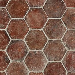 Antique Hexagonal Blanc Rose